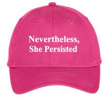 80b140f43fb Nevertheless She Persisted Hat Cap Elizabeth Warren Liberal Democrat