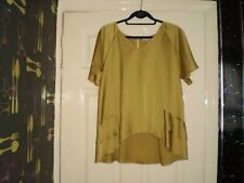"Blouse""Papaya""Weekend Mustard Size:14 ( UK )  New With Tags SALE"