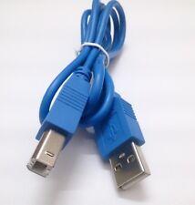 Cable USB 2.0 - USB A / USB B - 1 Metro - Color Azul -