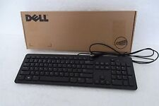 Dell Black Slim Quiet USB Keyboard w/Sleep QWERTY Layout F8M3Y N8WF8 KB113P