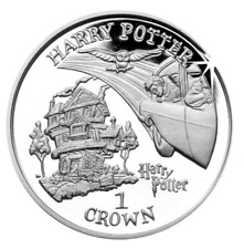 1 One Crown HARRY POTTER Burrow Presentation Pk coin 2002 Isle of Man. Christmas