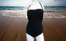 NWT PROFILE by GOTTEX Halter with Sequins 1 piece BATHING SUIT Swimsuit sz- 10