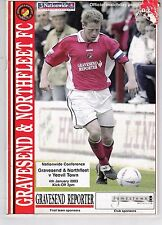 GRAVESEND & NORTHFLEET V YEOVIL TOWN CONFERENCE LEAGUE    4/1/2003