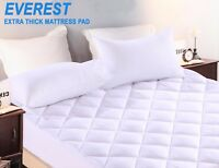 EVEREST EXTRA THICK Quilted Mattress Pad/Topper Queen, King, Full, Full XL, Twin