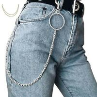 Pants Gothic for Punk Hop 1/2/3 Layer Wallet Jean Hip Trousers Chain