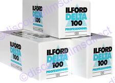 3 x ILFORD DELTA 100 120 Roll CHEAP BLACK & WHITE  FILM by 1st CLASS POST