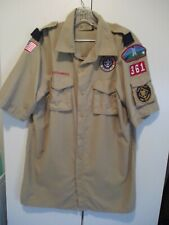 Boy Scouts of America Official Shirt Adult Medium w/ Patches