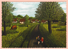 Country Scanes by Ada Currie- Visiting Granny. Gallery Five 1976 Postcard