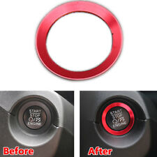 Red Aluminuim Ignition Engine Start Stop Key Ring Trim Fit For Jeep Compass 2017