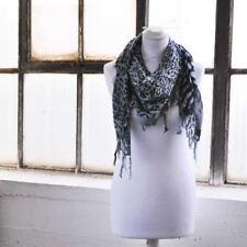 Bufanda de mujer de color principal gris de algodón