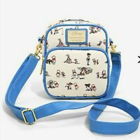 Loungefly Disney Winnie the Pooh & Friends Allover Print Crossbody Bag New Tags