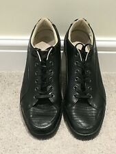 PUMA, Alexander McQueen Men's Black Leather Lace Up Trainers, UK Size 10½, Used.