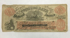 1861 Confederate Twenty Dollar Female Riding Deer Counterfeit Note