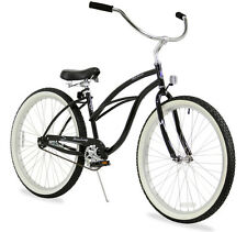 "NEW 24"" Women Beach Cruiser Bicycle Bike Firmstrong Urban Black"