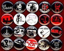SF Punk 20 NEW button pin badge set nuns crime lewd vktms fang sick pleasure kbd