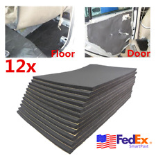 12x Car Floor Door Firewall Sound Deadener Heat Noise Insulation Deadening Foam