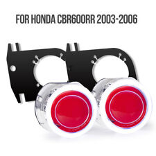 Tailor-made Angel Halos Light  For Honda CBR600RR 03-06 Red Demon Hid Projector