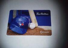 Tim Hortons Toronto Blue Jays Gift Card No Cash Value