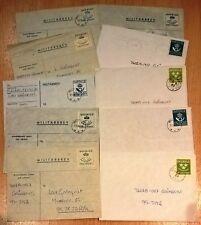 Sweden V28 Military mail Cover used (10 pcs)