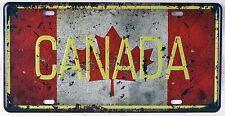 Tin Sign Wall Decor Metal Poster Canada Garage Wall Decor Plaque License Plate