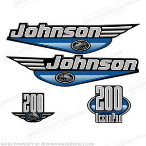 Johnson 1999-2000 OceanPro 200hp Outboard Decal Kit - You Choose Color! Decals