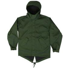 Fred Perry Men's Short Bonded Hunting Green Parka Jacket