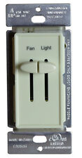 Decorator Variable Ceiling Fan Speed Dimmer Switch & Light Dimmer Combo Almond