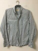 Hollister White Blue Casual Shirt Size Large Mens Long Sleeve (G118)