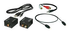 Digital zu Analog Audio Konverter + 1m Toslink+Klinke-Cinch Adapter + USB-Kabel*