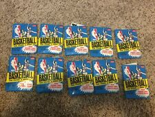 (10) Unopened 1980-81 Fleer NBA Basketball Team Stickers Packs