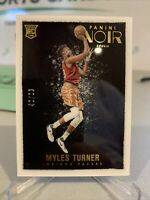 2015-16 Panini Noir Color Rookies Myles Turner #182 Rookie RC /99 - Indiana