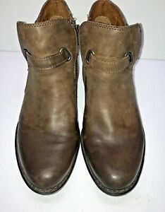 BORN size 9 or 40.5 JEM truffle brown leather buckle ankle boots booties shoes