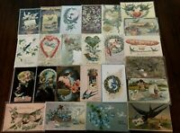 Antique Lot of 25  Vintage Greetings Postcards with *BIRDS~Bird-in sleeves-c400