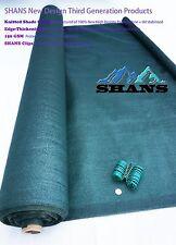 SHANS New Design Sun Screen Fabric Dark Green 90% UV Block 6'x 80'+Clips Free