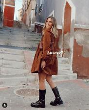 BNWT ZARA NEW VOLUMINOUS TAFFETA BROWN DRESS SIZE M UK 10 12 Bloggers Sold Out