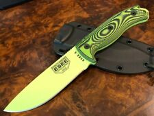 ESEE Knives ESEE 5 Venom Green Blade Neon Green/Black G10 3D Handle 5PVG-007