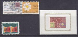 Turkey 1711-14 MNH 1966 2nd Balkanfila Stamp EXPO Set with IMPERF Souvenir Sheet