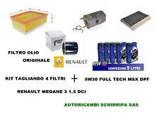 KIT TAGLIANDO FILTRI + OLIO ELF FULL TECH MSX 5W30 RENAULT MEGANE 3 1.5 DCI