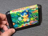 Samsung Sega Super Gamboy Sonic Hedgehog 3 Game Korean Version MD Genesis Rare