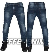 Jeans Uomo Denim slim elasticizzati Pantalone Blu Effe Denim art 205