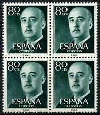 Spain 1955-75 SG#1215, 80c Gen. Franco Definitive MNH Block #D64413