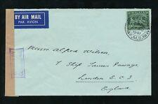 MALAYA SELANGOR PORT SWETTENHAM 1941 WW2 CENSOR 48...MOSQUE 50c to GB AIRMAIL