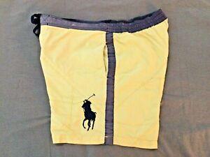 Polo By Ralph Lauren Men's Yellow Swim Trunks Size Large