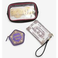 Harry Potter 3 Piece Hogwarts Express 9 3/4 Cosmetic Makeup Toiletry Bag Set