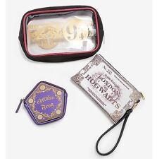 Harry Potter 3 Piece Hogwarts Express 9 3/4 Cosmetic Makeup Toiletry Bag Set NWT