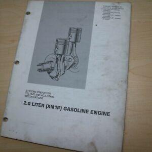 CATERPILLAR Forklift 2.0 Liter XN1P GAS Engine Shop Service Repair Manual Guide