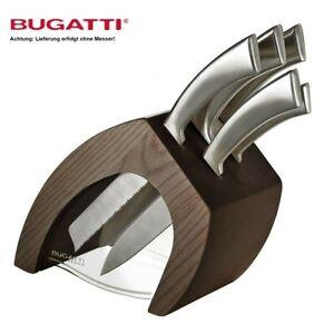 Casa Bugatti Marken Messerblock Ergo Chef Holz Block ohne Messer Edel NEU & OVP