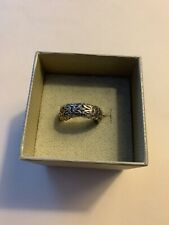 Byzantine Rhodium Over S/S Ring Sz 8.