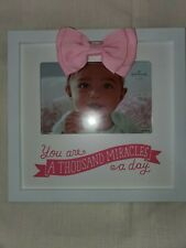 Hallmark Baby Frame You are a Thousand Miracles a Day Brand New In Pink