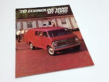 1970 Ford E-100 E-200 E-300 Econoline Vans Brochure